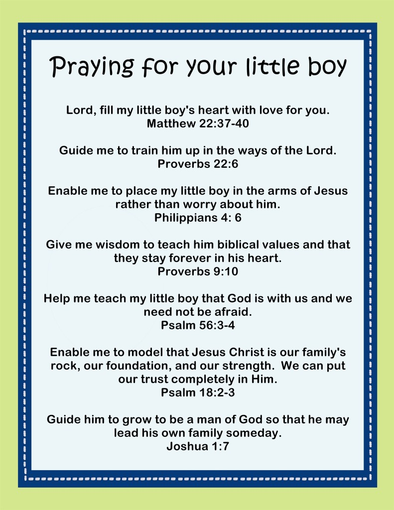 praying for your little boy