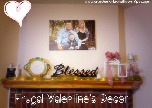 Frugal vday decor