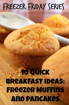 freezer muffins, freezer pancakes