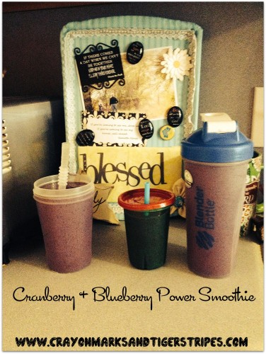 Cranberry and Blueberry Power Smoothie