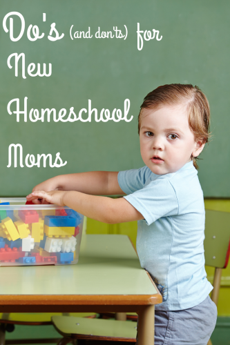 Dos and donts for new homeschooling moms