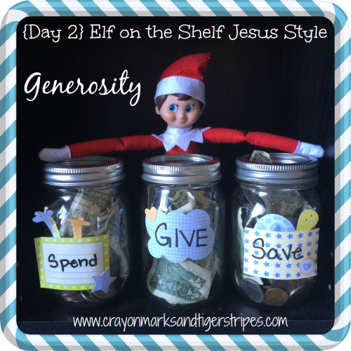 Elf on the Shelf Jesus Style: Generosity