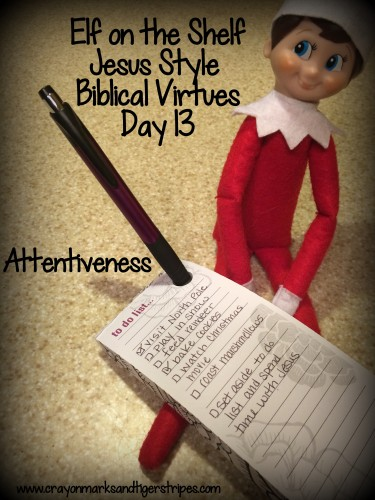 Elf on the Shelf Jesus Style Biblical Virtues Attentiveness