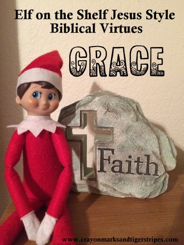 Elf on the Shelf Jesus Style Biblical Virtues GRACE
