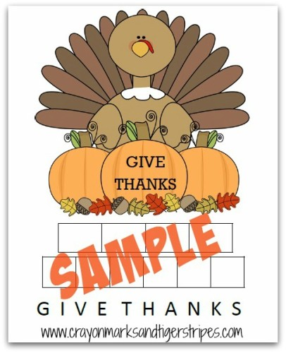Sample page See it Write it Thanksgiving pack