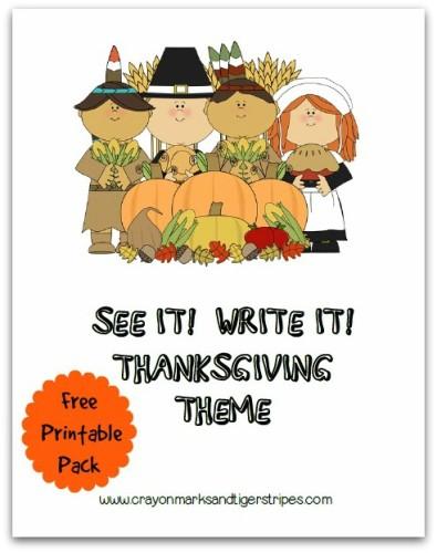 See it Write it Thanksgiving Theme