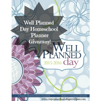 Well Planned Day Homeschool Planner Giveaway!